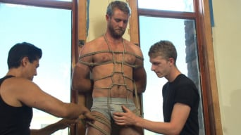 Drake Temple in 'Hairy dude gets his uncut cock edged!'