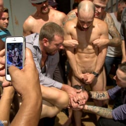 Dylan Strokes in 'Kink Men' Bar Slut Gang Fucked and Covered in the Crowd's Cum (Thumbnail 6)