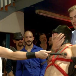 Dylan Strokes in 'Kink Men' Bar Slut Gang Fucked and Covered in the Crowd's Cum (Thumbnail 7)