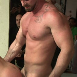 Eli Hunter in 'Kink Men' Horny crowd mercilessly gang fucks a bound hung stud against his will (Thumbnail 9)