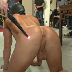 Eli Hunter in 'Kink Men' Horny crowd mercilessly gang fucks a bound hung stud against his will (Thumbnail 18)