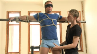 Eli Hunter in 'Muscled straight stud has his cock edged to the max!'