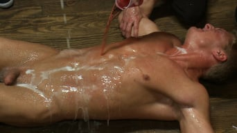 Gavin Waters in 'Blond Muscle Stud Blindfolded, flogged, humiliated and fucked in'
