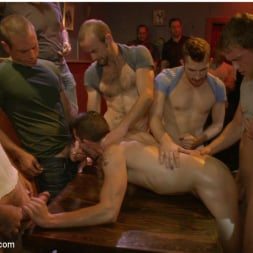 Isaac Hardy in 'Kink Men' Gangbang and cum for a stuck up go-go boy (Thumbnail 7)