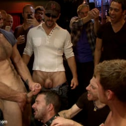 Isaac Hardy in 'Kink Men' Gangbang and cum for a stuck up go-go boy (Thumbnail 13)