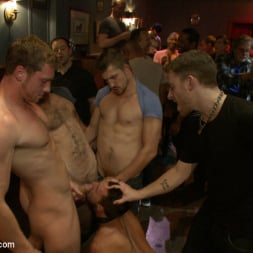 Isaac Hardy in 'Kink Men' Gangbang and cum for a stuck up go-go boy (Thumbnail 16)