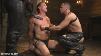 Jaxton Wheeler in 'Training Day - Dom in training gets to break in a ripped, new slave'