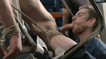 Jay Rising in 'Straight stud with a giant cock relentlessly edged against his will'