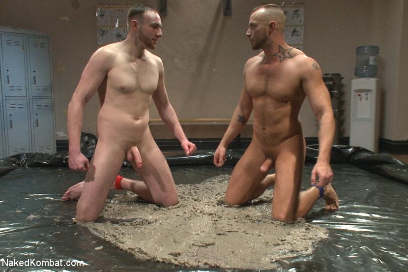 Boys mud wrestling naked