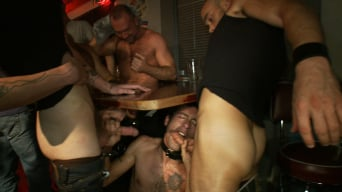 Josh West in 'Use the stud's uncut cock as a shot glass at a public bar!'