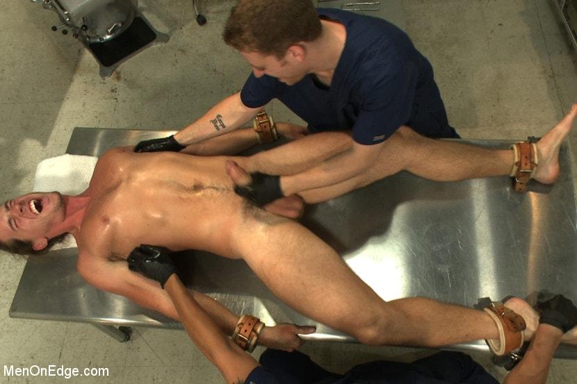 A lean japanese guy in a fetish gay pain pleasure bananafan