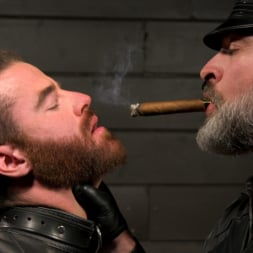Kristofer Weston in 'Kink Men' ASH PIGS: Cigar Smoking Leather Daddy Breaks in His Hairy Muscle Slave (Thumbnail 4)