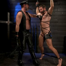Kristofer Weston in 'Kink Men' ASH PIGS: Cigar Smoking Leather Daddy Breaks in His Hairy Muscle Slave (Thumbnail 16)