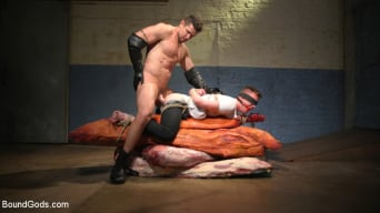 Kyler Ash in 'Perverted Butcher torments and abuses his handsome captive'