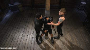 Matt Anthony in 'Monster Cocked Noob Blindfolded, Gagged, and Edged Til He Blows'
