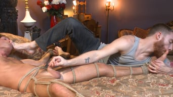 Morgan Shades in 'Blond surfer dude gets edged in bondage for the first time'