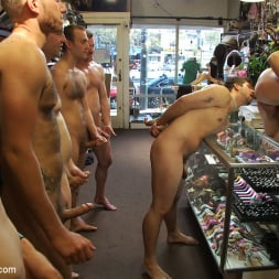 Parker London in 'Kink Men' Cocky stud gets gangbanged in a clothing store (Thumbnail 3)