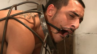Rico Romero in 'Creepy handyman choke fucks an unwilling student in bondage'