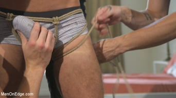 Scott DeMarco in 'Lean hunk with a big cock blows his load mid-air!'