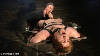 Scotty Zee in 'Metal Rack to Sleep Sack: Captive Boy's Thick Cock Edged Mercilessly'