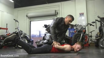 Seamus O'Reilly in 'Hot biker stud captures a hung ginger and mercilessly fucks his hole'