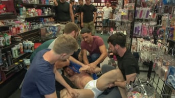 Silas O'Hara in 'Hot ripped stud gets punished and gang fucked by a crowd for stealing'