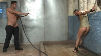 Trenton Ducati in 'A helpless vagrant gets hosed down and fucked by the creepy handyman'