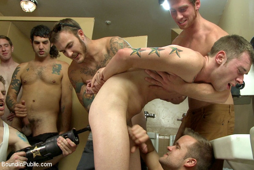Kink Men 'Bathroom pig whored out to the horny public' starring Tripp Townsend (Photo 11)
