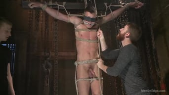 Tyler Rush in 'Party boy wakes up to find himself in a crucified edging'